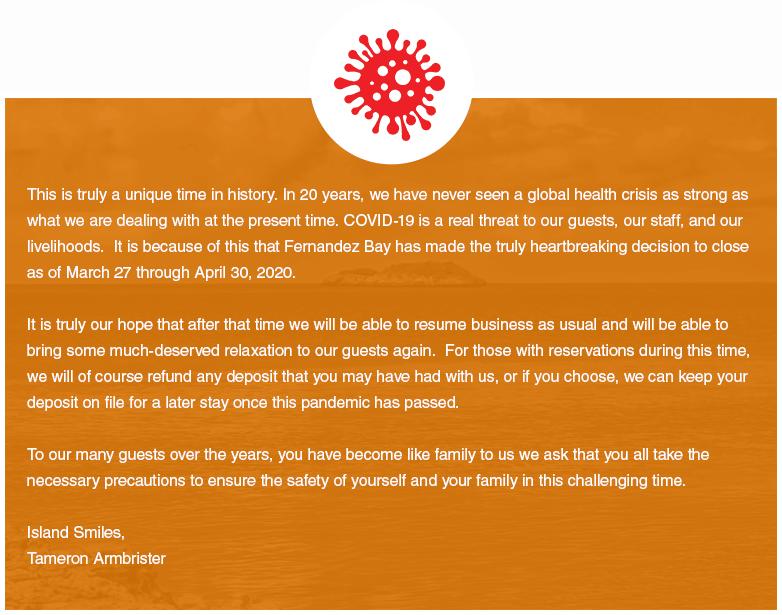 Closure Notice